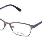 Dámske kovové bordové dioptrické okuliare 0406  1