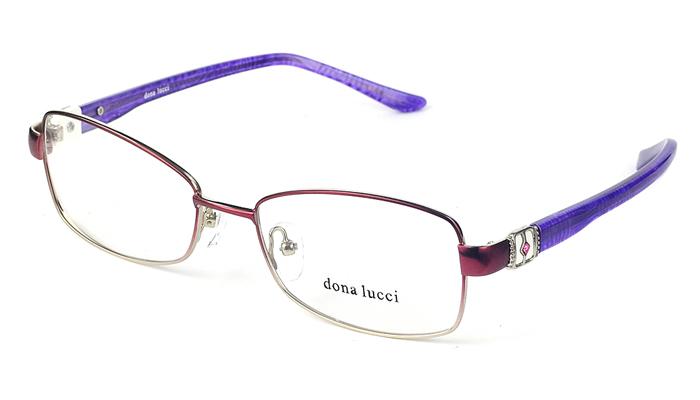 Dámske kovové bordovo - fialové dioptrické okuliare 0196