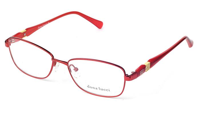Dámske kovové červené dioptrické okuliare 0261