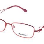 Dámske kovové červené dioptrické okuliare 0530  1