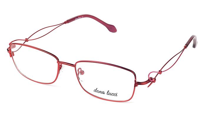Dámske kovové červené dioptrické okuliare 0530