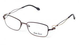 Dámske kovové čierne dioptrické okuliare 0531