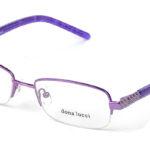 Dámske kovové fialové dioptrické okuliare 0171  1