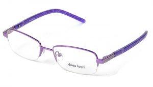Dámske kovové fialové dioptrické okuliare 0171