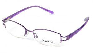 Dámske kovové fialové dioptrické okuliare 0174