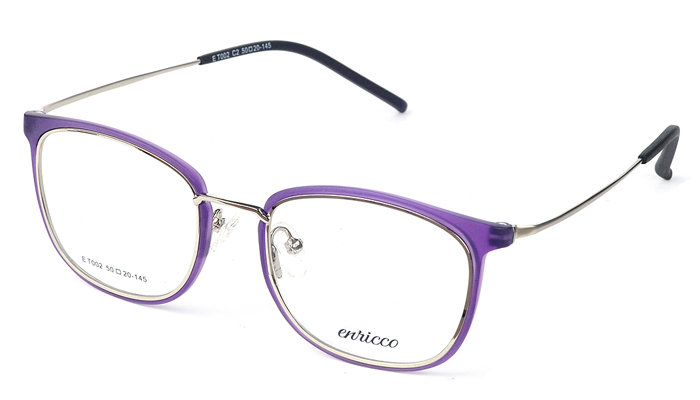 Dámske kovové fialovo - zlaté dioptrické okuliare 0573