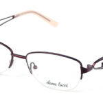 Dámske kovové hnedé dioptrické okuliare 0527 1