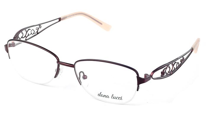 Dámske kovové hnedé dioptrické okuliare 0527