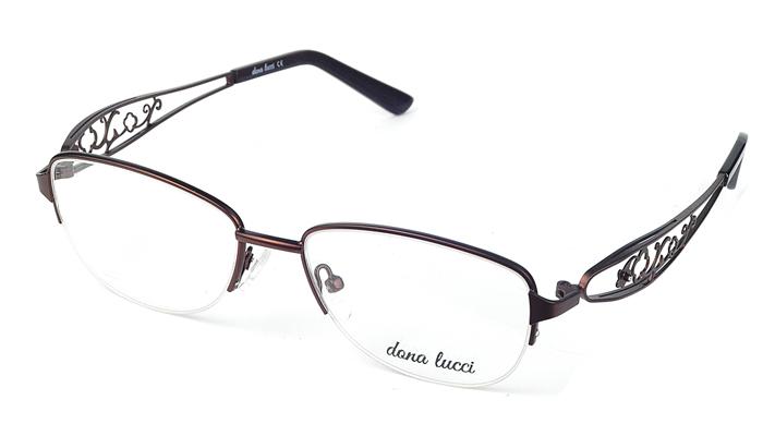 Dámske kovové hnedé dioptrické okuliare 0528