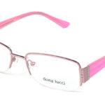 Dámske kovové ružové dioptrické okuliare 0141 1