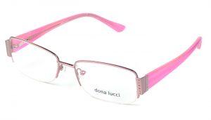 Dámske kovové ružové dioptrické okuliare 0141