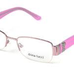 Dámske kovové ružové dioptrické okuliare 0237  1