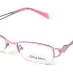 Dámske kovové ružovo – šedé dioptrické okuliare 0163  1