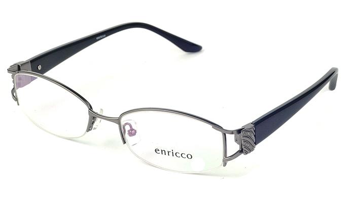 Dámske kovové sivé dioptrické okuliare 0250