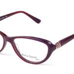 Dámske plastové bordové dioptrické okuliare 0298  1