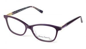 Dámske plastové bordové dioptrické okuliare 0435