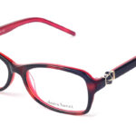 Dámske plastové červeno – čierne dioptrické okuliare 0231  1