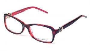 Dámske plastové červeno - čierne dioptrické okuliare 0231