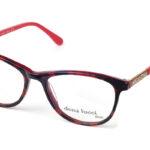 Dámske plastové červeno-čierne dioptrické okuliare 0430