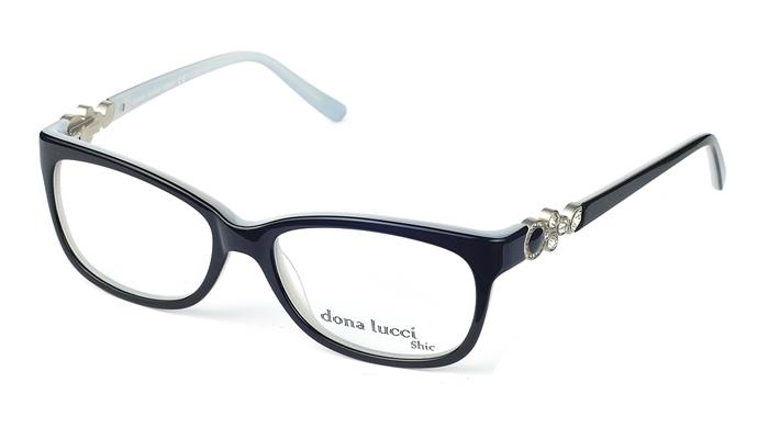 Dámske plastové čierne dioptrické okuliare 0433