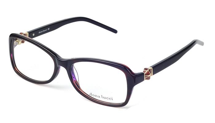 Dámske plastové čierno - bordové dioptrické okuliare 0230