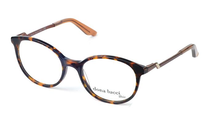 Dámske plastové čierno-hnedé dioptrické okuliare 0429