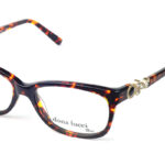 Dámske plastové čierno – hnedé dioptrické okuliare 0432 1