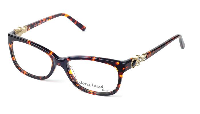 Dámske plastové čierno - hnedé dioptrické okuliare 0432