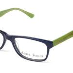 Dámske plastové čierno – zelené dioptrické okuliare 0219  1