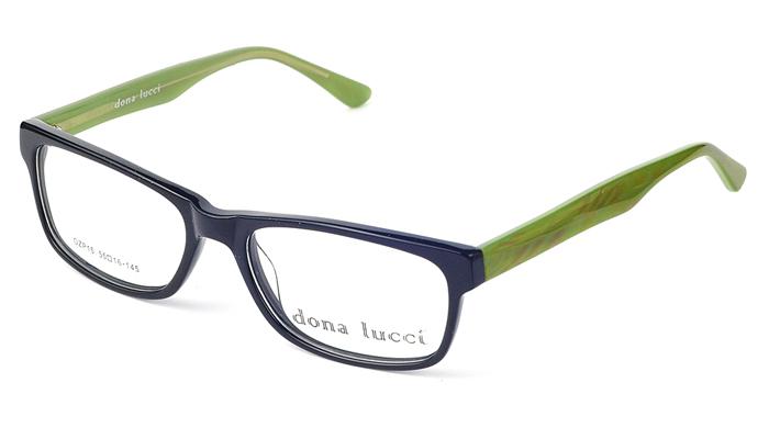 Dámske plastové čierno - zelené dioptrické okuliare 0219