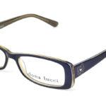 Dámske plastové čierno – zlaté dioptrické okuliare 0217 1