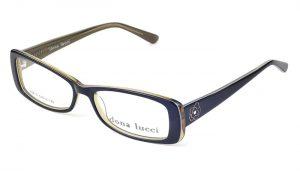 Dámske plastové čierno - zlaté dioptrické okuliare 0217
