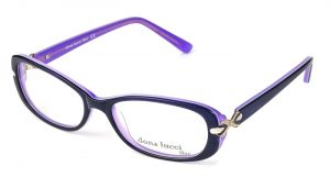 Dámske plastové fialovo - čierne dioptrické okuliare 0296