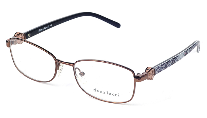 Dámske plastové hnedé dioptrické okuliare 0265