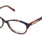 Dámske plastové hnedé dioptrické okuliare 0271  1