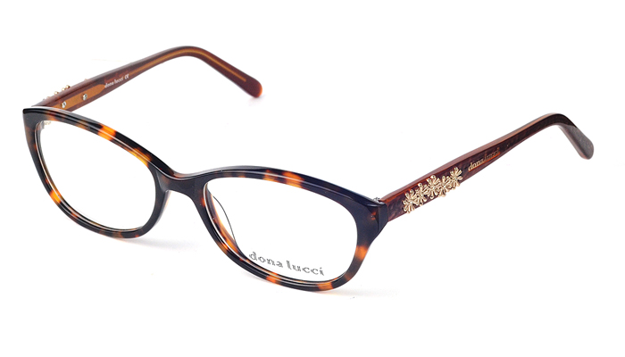 Dámske plastové hnedé dioptrické okuliare 0271
