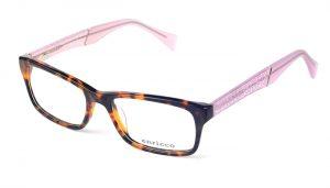 Dámske plastové hnedé dioptrické okuliare 0277