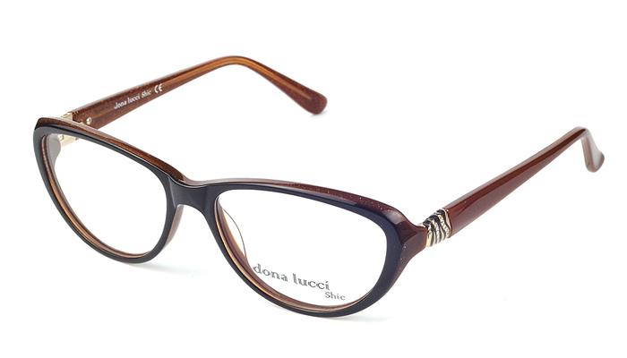 Dámske plastové hnedé dioptrické okuliare 0299