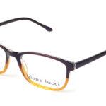 Dámske plastové hnedo – žlté  dioptrické okuliare 0213 1