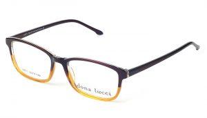 Dámske plastové hnedo - žlté  dioptrické okuliare 0213