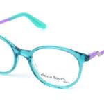 Dámske plastové modro-fialové dioptrické okuliare 0427