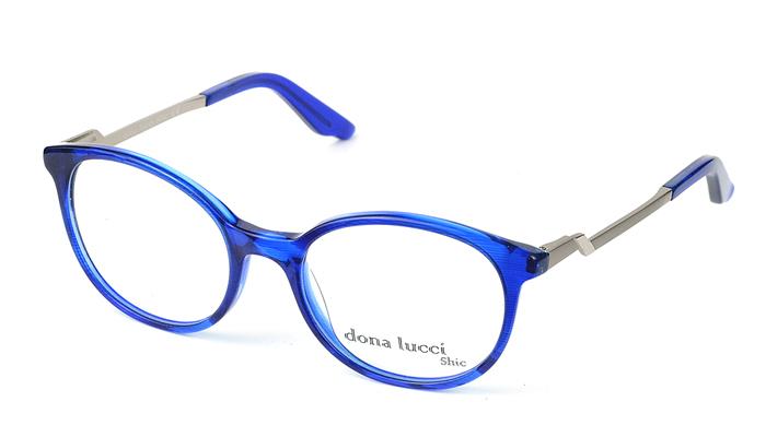 Dámske plastové modro-sivé dioptrické okuliare 0428