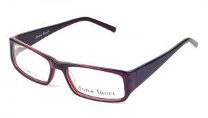 Dámske plastové tmavočervené dioptrické okuliare 0220