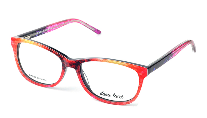 Dámske plastové viacfarebné dioptrické okuliare 0521