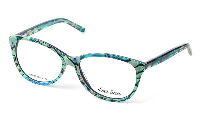 Dámske plastové zelené dioptrické okuliare 0519
