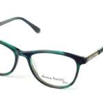 Dámske plastové zeleno-čierne dioptrické okuliare 0431