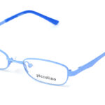 Detské kovové  bledomodré dioptrické okuliare 0147 1