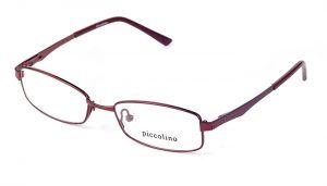Detské kovové bordové dioptrické okuliare 0145
