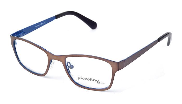 Detské kovové hnedé dioptrické okuliare 0338