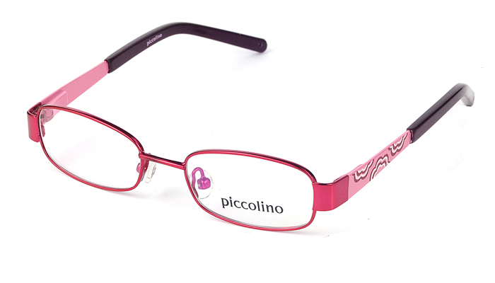 Detské kovové ružové dioptrické okuliare 0111